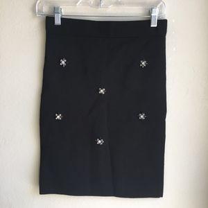 ASOS Beaded Embellished Bandage High Waist Skirt
